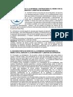 Analisis de Intimidacion Contrastando El Mismo Con El Derecho a La Informacion y Libertad de Expresion