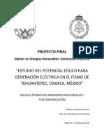 Potencial eólico, Parque eólico en Oaxaca