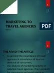 Marketing to Tarvel agencies