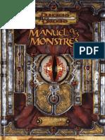 Manuel Des Monstres D&D 3.5