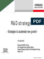 Hitachi R&D Strategy
