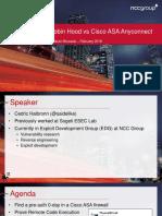 RECON BRX 2018 Robin Hood vs Cisco ASA AnyConnect