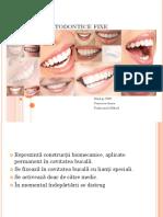 Aparate Ortodontice Fixe ortodonție