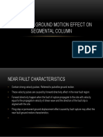 Near Fault Ground Motion Effect on Segmental Column