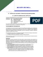 TOPOGRAFIA, CATASTRO Y AVALUO - ESTUDIOS Y PROYECTOS DE EDIFICACIONES - CAPÍTULO E