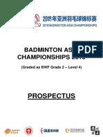 Badminton Asia Championships 2018 Tournament Prospectus 1st March 2018