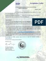 Acceptance Letter BSSRM MAR PH103