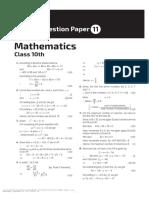 Math Sample Paper 11