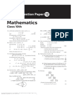 Math Sample Paper 12 10th