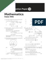 Math Sample Paper 13 10th