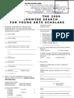 PHSA Application Form for Scholarship