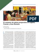 El consumo de platos preparados en España, Francia y Gran Bretaña