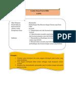 Lembar kerja peserta didik perbandingan