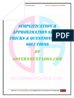 Simplification Approximation PDF by Governmentadda.com
