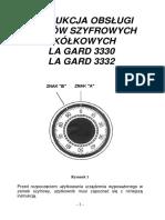 Instrukcja LAGARD 3330