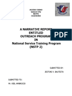 Jes Narrative Report