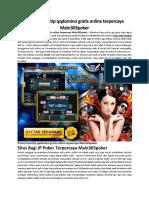 Promo Freechip Qqdomino Gratis Online Terpercaya Main303poker