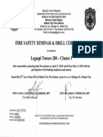 Fire Safety Seminar and Drill Certificate 2015
