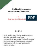 Model Praktek Keperawatan Profesional Di