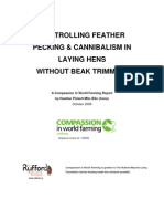 Controlling Feather Pecking and Cannibalism Without Beak Trimming