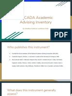 nacada academic advising inventory