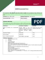 Coshh Assessment Form