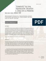 """Políticas de """"fomento"""" en una sociedad en transición Desafíos y obstáculos. Chile en la primera mitad del siglo XX"""