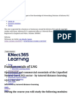 Study Fundamentals of LNG by Online Distance Learning - Course Content