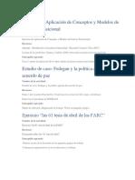 Ejercicio de Aplicación de Conceptos y Modelos de Justicia Transicional