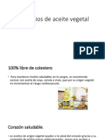 Beneficios de Aceite Vegetal