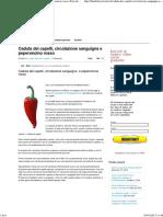 Caduta Dei Capelli, Circolazione Sanguigna e Peperoncino Rosso _ Fine Della Calvizie