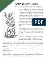 CAPTURAR PARAULES LLEGENDA DE SANT JORDI