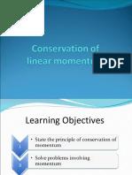 Conservationoflinearmomentum