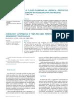 Ecografia Abdominal e Pleuro-pulmonar Na Urgência - Protocolo E-FAST ( Focused Assessment With Sonography for Trauma). 2014. SPA