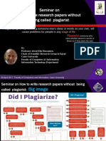 How to Write Research Papers Without Being Called Plagiarist