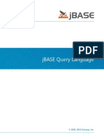 JBASE Query Language