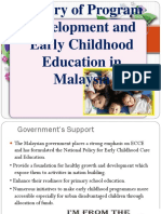 History of Program Development and Early Childhood Education