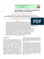 Effect of Formaldehyde Inhalation and Alcohol Consumption on Some Kidney Markers of Albino Rats