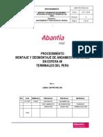 ABP-PRY-PRCE-001-Rev-0-Proc Montaje y Desmontaje de Andamios Interiores Para Intervención de Esfera 66