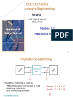 Notes 17 - Impedance Matching