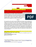 Mobilidade Urbana e Mercado de Trabalho Na Região Metropolitana Do Rio de Janeiro