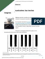 Las Notas Musicales_ Las Teclas Negras _ El Club Del Autodidacta