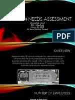 program needs assessment results