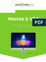 Macros & VBA Cheat Sheet