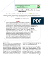 Evaluation of Nutrient Composition and Mineral Levels of Some Edible Insects