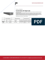 Contenedor 20 High Cube