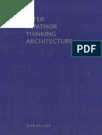 Pensar La Arquitectura - Peter Zumthor