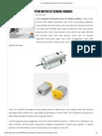 Cara Mengatur Kecepatan Motor DC Dengan Arduino