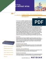 Netgear MR314 Cable/DSL Wireless Router Spec Sheet