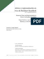 Tiempo Histórico y Representación en La Histórica de Reinhart Koselleck